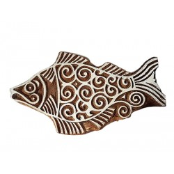 Fish Printing Wooden Block (WB61)