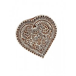 Heart Printing Wooden Block (WB58)