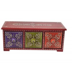 Set of 3 wooden drawers hand painted in Multi Colour (BXPD27)