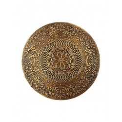 Set of Six Brass Embossed Metal Placemats (CBR-50)