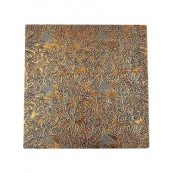 Set of Six Brass Embossed Metal Placemats (CBS-52)