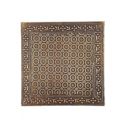 Set of Six Brass Embossed Metal Placemats (CBS-96)