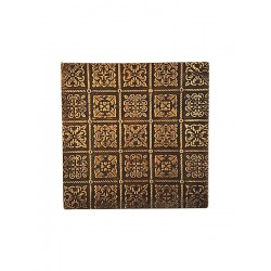 Set of Six Brass Metal Embossed Metal Drink Coasters (CBS-3)