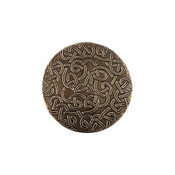 Set of Six White Metal Embossed Metal Drink Coasters (CWR-61)