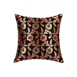 Black Brocade Cushion Cover (CCNG-12)