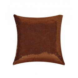 Brown Sequin Cushion Cover (CCNG-21)