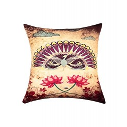Lotus Digital Print Cushion Cover (CCNG-18)