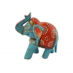 Blue Elephant with Orange (FGE15)