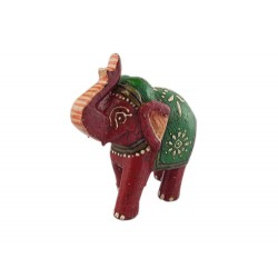 Red Elephant with Green (FGE11)