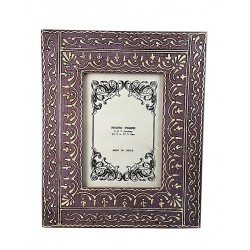 Hand Painted Purple Photo Frame (PFC57-47)