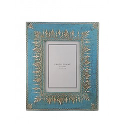 Hand Painted Turquoise Photo Frame (PFC57-117)